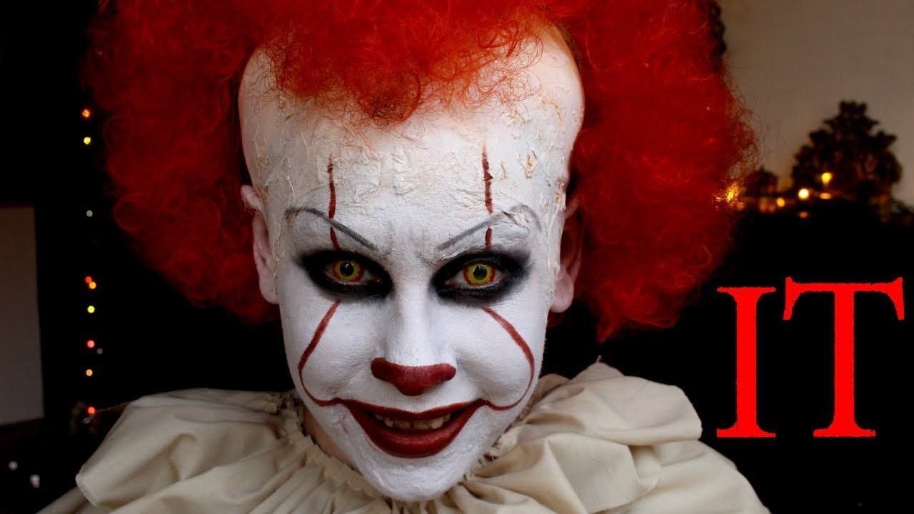 it pennywise the clown makeup halloween stephen king. Black Bedroom Furniture Sets. Home Design Ideas