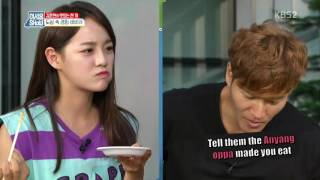 Anyang oppa forced Sejeong to eat~