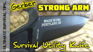 Gerber Strong Arm - Survival Tactical Knife -  SHOT Show 2015 - Fixed Blade - Made in USA