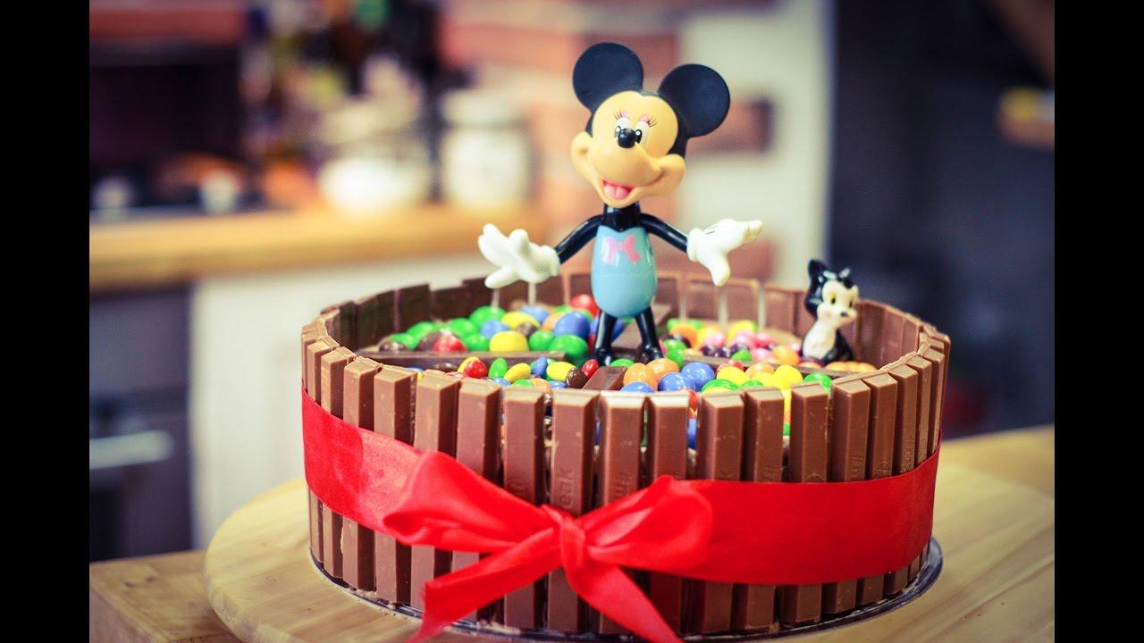 Myszka Minnie Tort Kit Kat M Amp M S Skittles Nutella