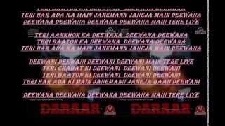 Deewana Deewana Main Tere Liye From 1996 Movie Daraar Full Karaoke Version With Lyrics
