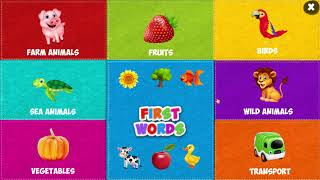 First Words For Baby for Kids  Free App from EduBuzzKids for Android and IOS