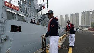 Bangladesh warship arrives in Qingdao for PLA Navy celebrations