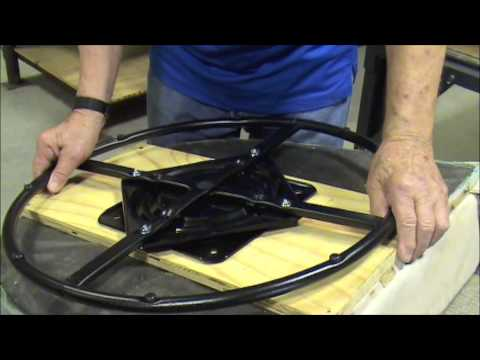 diy rocking chair kit good office chairs for gaming convert upholstered to swivel - youtube