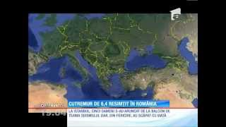 Cutremur de 6,4 resimțit în România