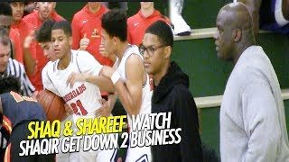 Shaq & Shareef O'Neal Watch Shaqir Get Down to Business in Crossroads Championship game!