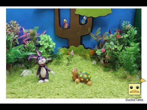 นิทานอีสป กระต่ายกับเต่า - นิทานก่อนนอนสั้นๆ ( Stop Motion ปั้นดินน้ํามัน )