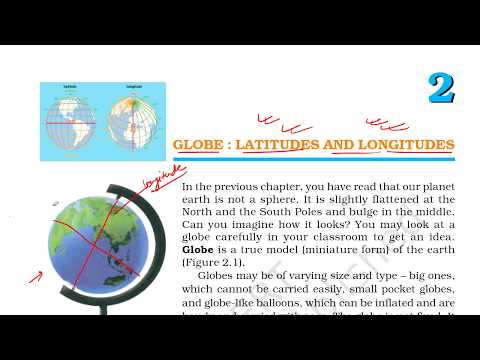 CLASS 6TH GEOGROPHY NCERT CHAPTER 2: GLOBE : LATITUDES AND