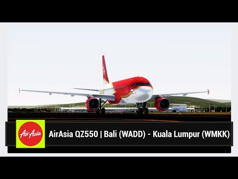 [FSX] AirAsia QZ550 | Bali (WADD) - Kuala Lumpur (WMKK) | Aerosoft Airbus X