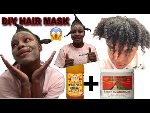 DIY Indian Healing Aztec Clay Mask For Natural Hair | Wash Day | MY CURLS CAME BACK TO LIFE !
