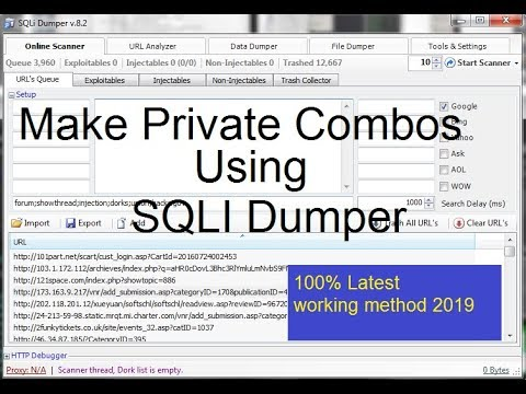 How to create HQ Fresh private combos with SQLI Dumper 2019 turorial