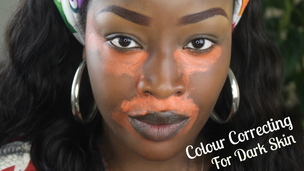 How To L Colour Correct L Covering Dark Marks On Dark Skin Youtube