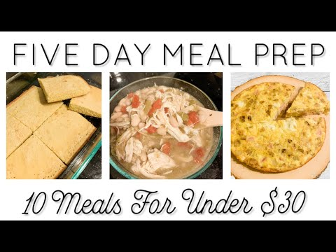 $30 MEAL PREP   EASY MEALS TO LOSE WEIGHT   WW & CALORIE FRIENDLY
