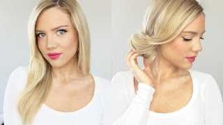 One of elanna pecherle's most viewed videos: At Home Salon Blowout Transitioned Into An Easy Updo