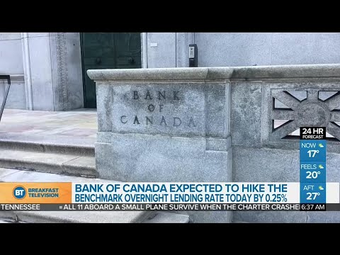 Bank of Canada expected to hike benchmark interest rate