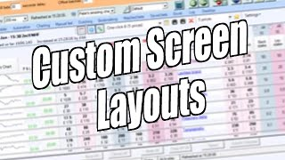 Using Bet Angel - One click screen - Custom screen layouts