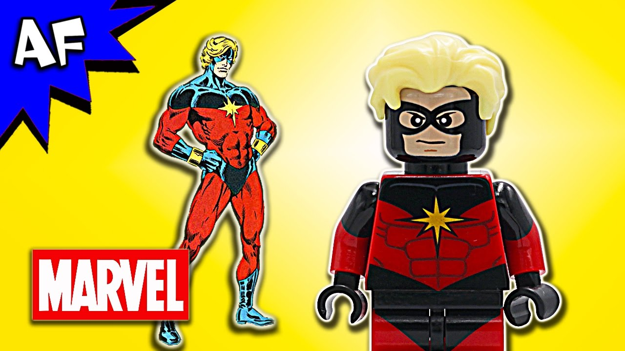 Captain Marvel Marvel Universe Lego Custom Minifigure Movie