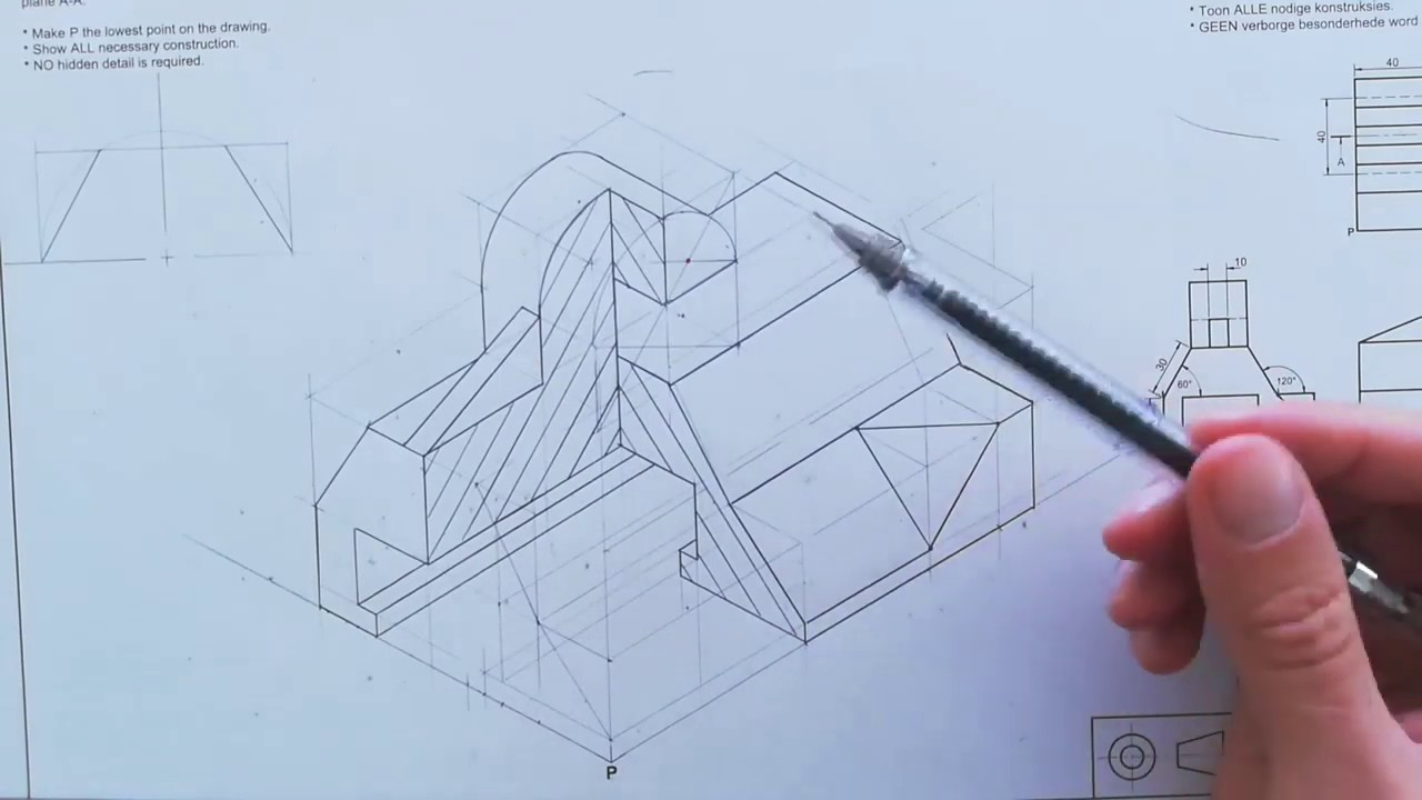 Grade 12 Isometric Drawing Page 59 Engineering Graphics And Design Youtube