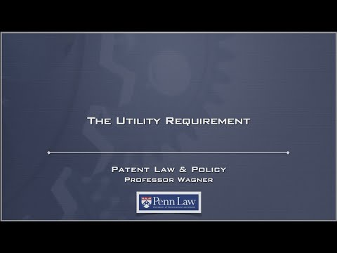 Lecture 27 - Patent Utility