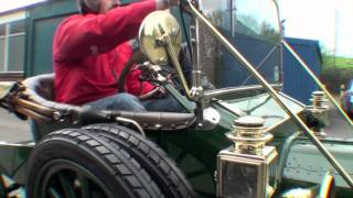 Test driving a Ford Model T