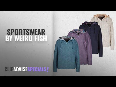 Top 10 Weird Fish Sportswear [2018]: Weird Fish Hani Print Trim Classic Macaroni Hoodie