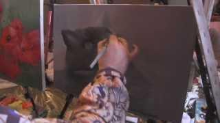 """Видеоурок Сахарова """"Как научиться рисовать кота"""" живопись для начинающих, уроки рисования"""