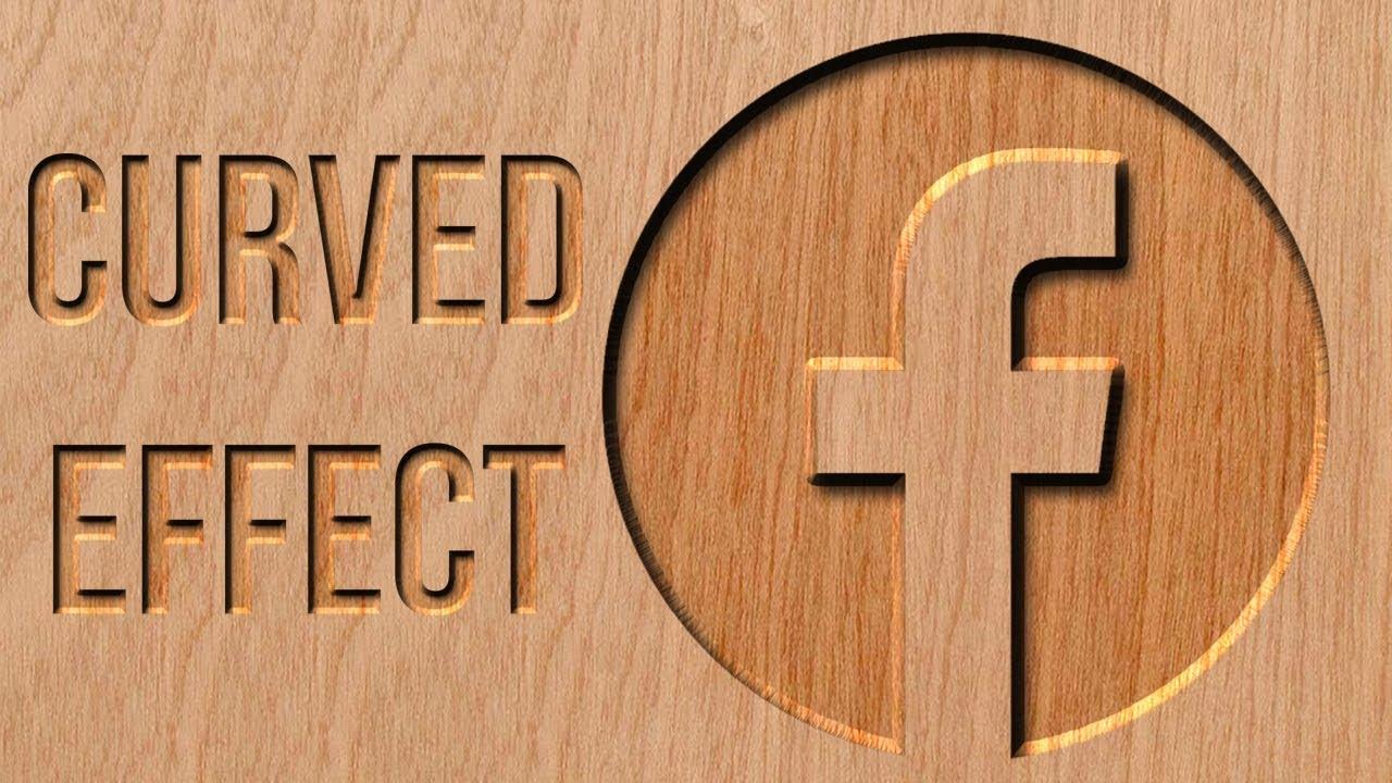 Cutting wood logo/text effect | photoshop tutorial youtube.