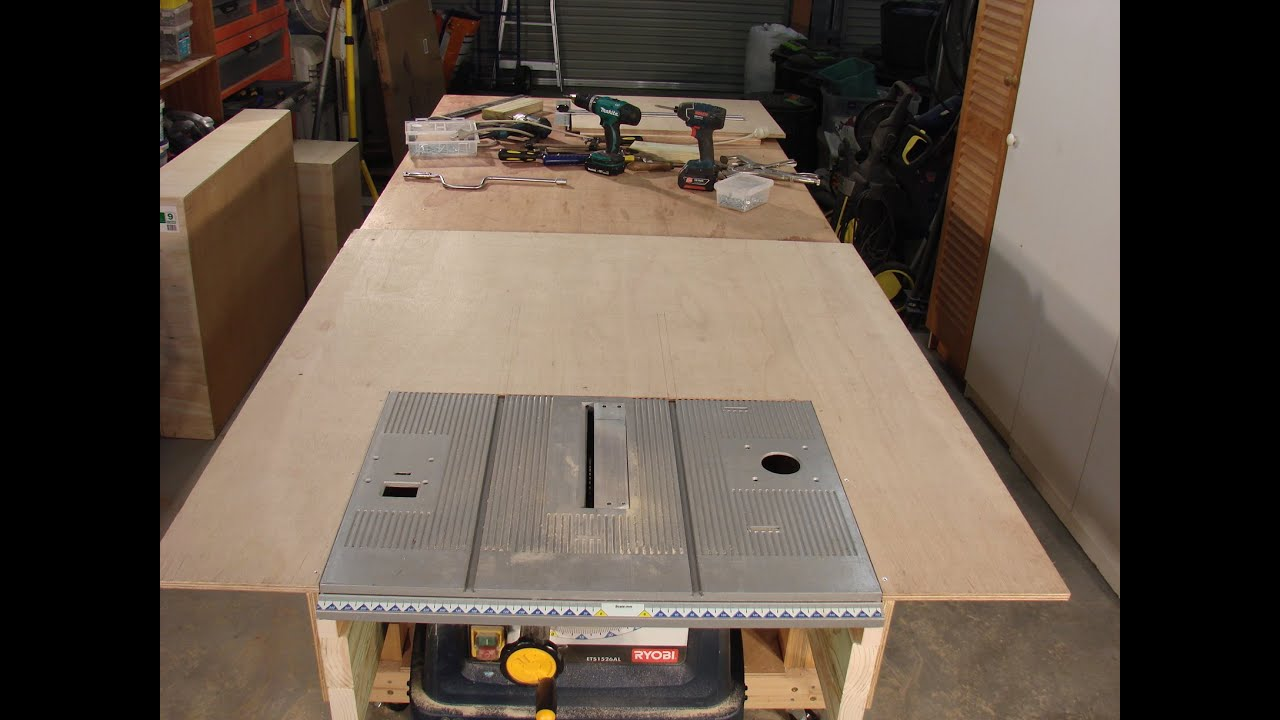 63 Build a table saw extension Part 1 By Roger Clyde Webb - YouTube
