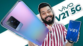 vivo V21 5G Unboxing & First Impressions ⚡ 44MP OIS Selfie, Dimensity 800U, 64MP Camera & More