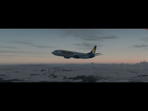 Helios Chartered A320 Naples Decent