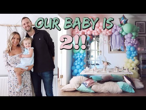 Olive's 2ND Birthday! Kids Party Set Up & Food Prep | Elanna