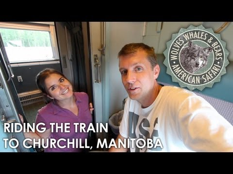 Riding the VIA Rail train from Thompson to Churchill, Manito