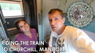 Riding the VIA Rail train from Thompson to Churchill, Manitoba