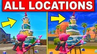 birthday cake locations in fortnite