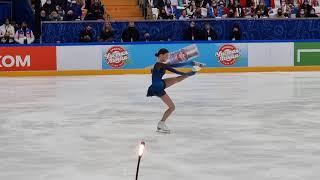 Анна Щербакова Кубок Первого канала Короткая программа 6 02 21