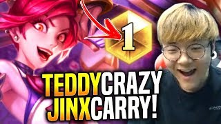 Teddy is the Best Carry in the World?! - When Teddy Picks Jinx ADC! | SKT T1 Replays