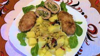 Зразы с солеными огурцами ./ Зразы мясные рецепт ./ Как приготовить зразы .