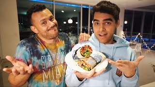 Teaching FaZe Orba How To Make A Burrito!