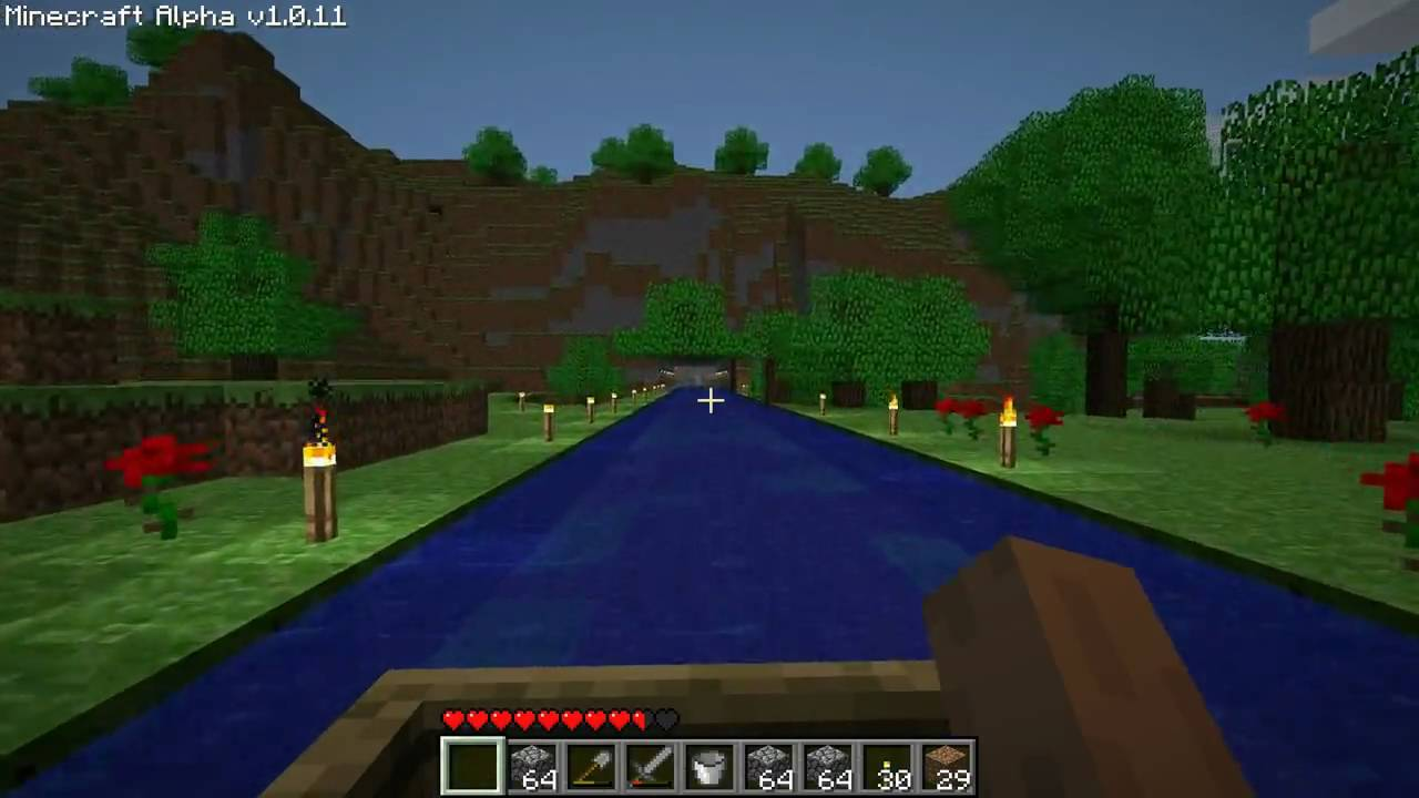 how to make a canal in minecraft