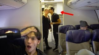 HE ACTUALLY KISSED HER ON THE AIRPLANE!