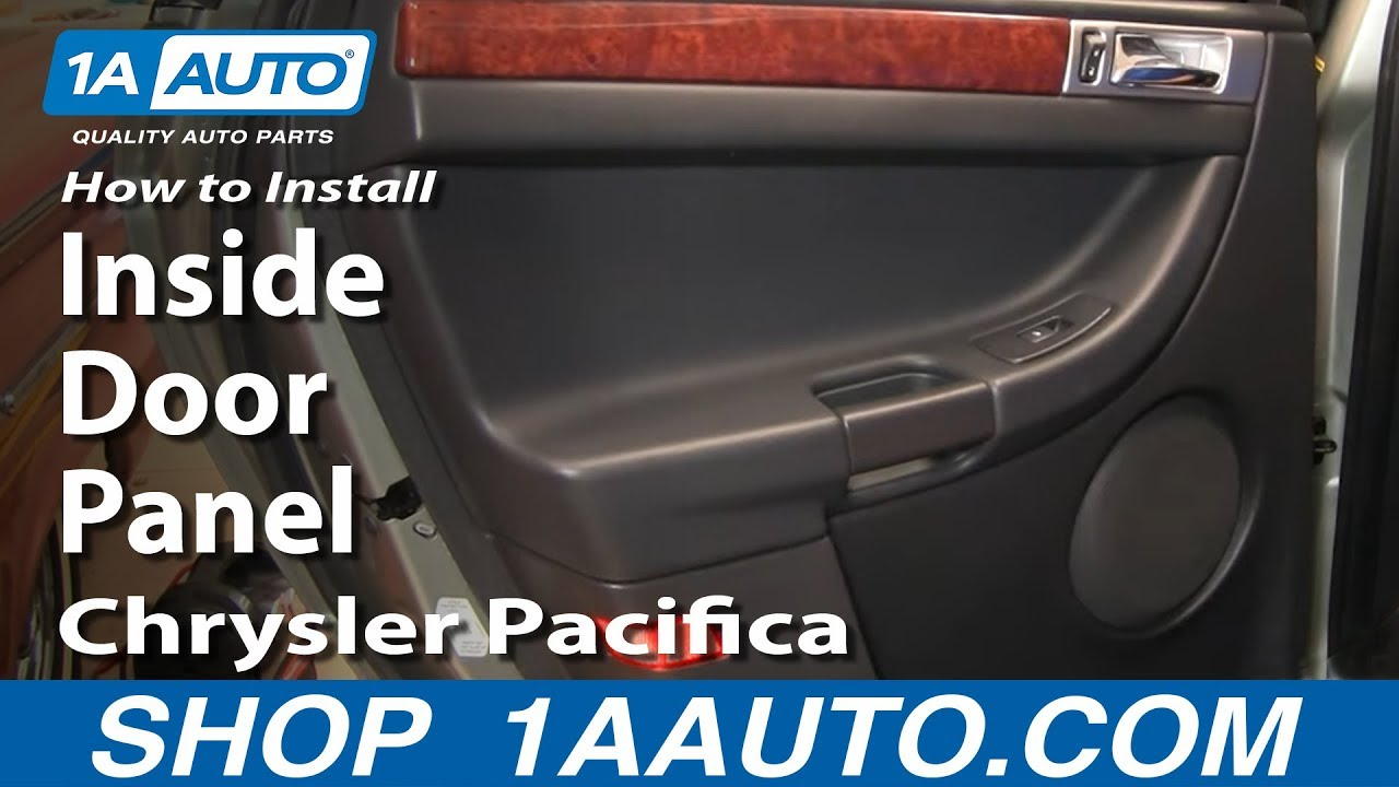 how to remove rear door panel 04-08 chrysler pacifica