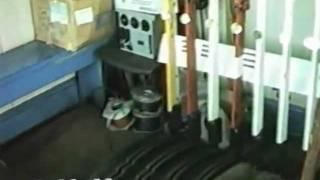 Leigh ex NSR signalbox and mechanical gates