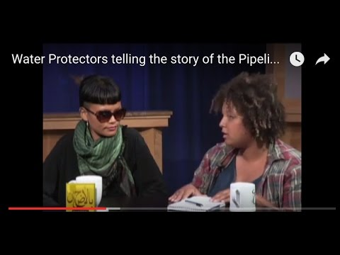 Water Protector Activists telling the story of the Pipeline Access Protest in Iowa!