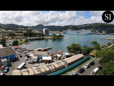 View of Castries, St Lucia 🇱🇨 from Finance Administrative Centre   Caribbean   4K