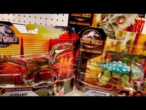 new-jurassic-world-camp-cretaceous-toy-hunt-&-star-wars-baby-yoda---alioramus-&-ankylosaurus-bumpy