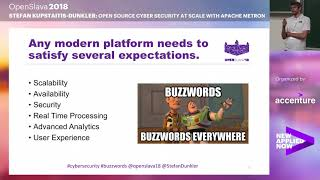 sECURITY- Stefan Kupstaitis-Dunkler - Open Source Cyber Security at Scale with Apache Metron