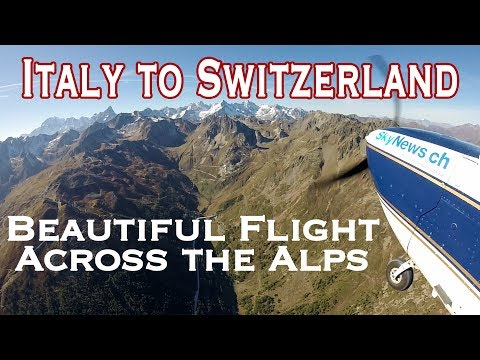 Flying across the Alps from Aosta to Sion
