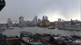 HMS Westminster arrives in London