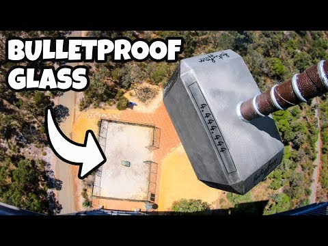 100KG THOR'S HAMMER Vs. BULLETPROOF GLASS from 45m!