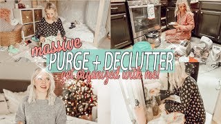 MAJOR PURGE & DECLUTTER 2018 / Organize + Clean With Me!